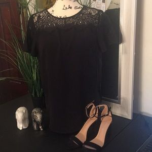 Abercrombie & Fitch Dressy Black Lace Top